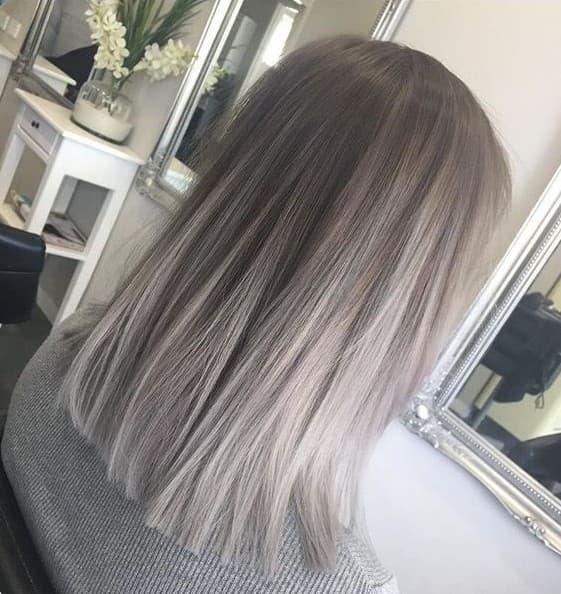 Blunt & Straight Lob Hair