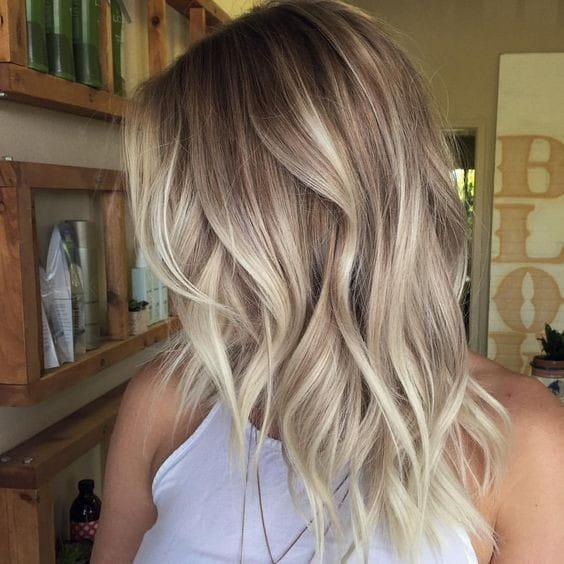 Balayage Shoulder Length Haircut