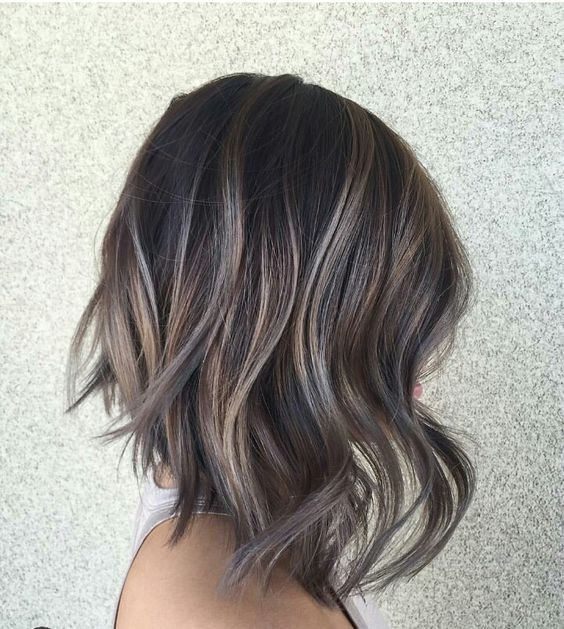 Brown Bob With Silver Streaks